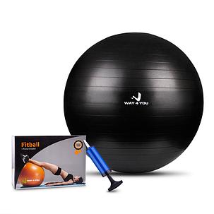 Мяч для Фитнеса Anti-Burst (Фитбол) 65см Way4you Черный, фото 2