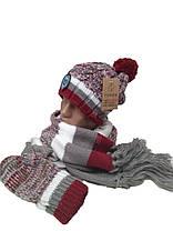 Комплект FONEM 3065  (шапка, шарф и рукавицы), фото 3