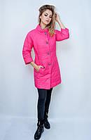 Женская куртка демисезонная Punky Klan. Яркий розовый цвет