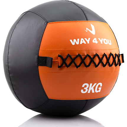 Набивной мяч Wall Ball (медбол) Way4you 3кг., фото 2