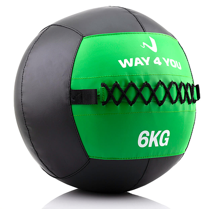 Набивной мяч Wall Ball (медбол) Way4you 6кг., фото 2