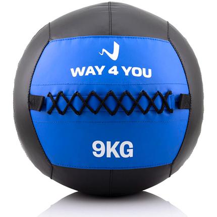 Набивной мяч Wall Ball (медбол) Way4you 9кг., фото 2
