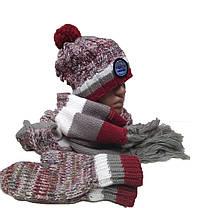 Комплект FONEM 3065  (шапка, шарф и рукавицы), фото 2
