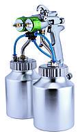 Краскопульт пневматический  тип HVLP (2 нижних металлических бачка, 2 форсунки) диаметр форсунок-1,3 мм  AUARITA   PT-29B-1.3