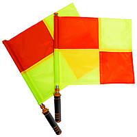Комплект судейских флагов (футбольного арбитра) 2шт FB-0475