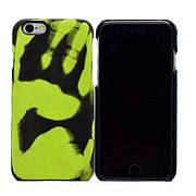 Термо чехол на Iphone 5 / 5S / SE Black (green)