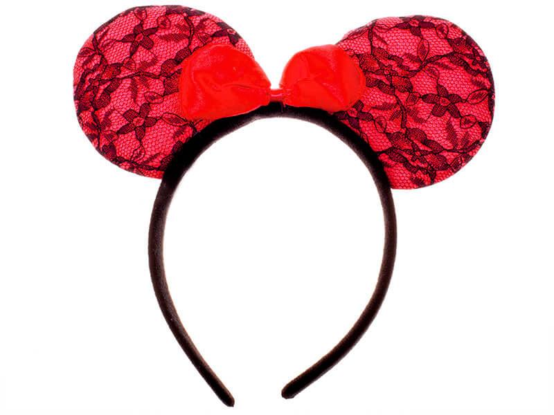 Обруч уши Микки Мауса  красные