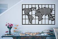 "Картина из дерева ""Board World Map"""