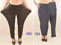Джинсы женские на флисовой подкладке в больших размерах 5XL - 7XL Джеггинсы зимние - батал