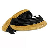 Расческа для бороды из сандала и кости