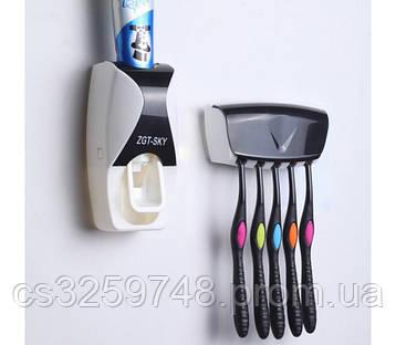 Тримач з дозатором для зубних щіток SKY, фото 2