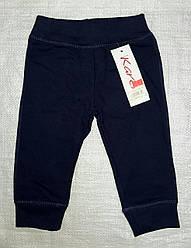 Детские спортивные штаны с начесом Karen темно-синие (74 см)(Польша)