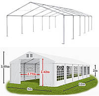 Шатер 6х12 ПВХ, торговый павильон, садовая палатка, тент, ангар, гараж, намет, зонт