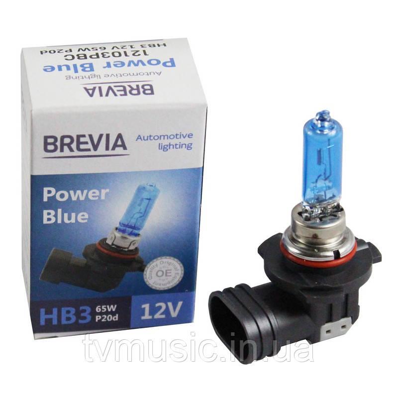 Автолампа BREVIA Power Blue HB3 12V 65W 4200K