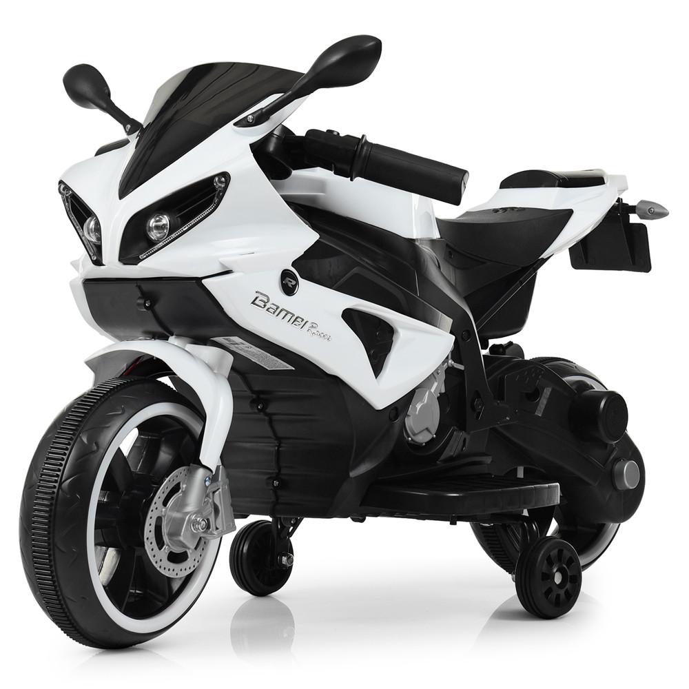 Электромобиль Мотоцикл M 4183-1 белый BAMBI
