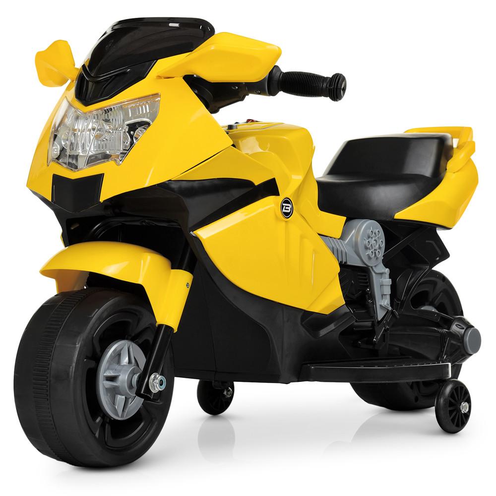 Электромобиль Мотоцикл M 4160-6 желтый BAMBI