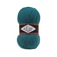 Пряжа для ручного вязания Alize LANAGOLD (Ализе ланаголд) 640 павлиновая зелень