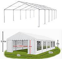 Шатер 5х10 РЕ полипропилен для кафе и бара большой торговый павильон ангар тент с окнами гараж садовая палатка
