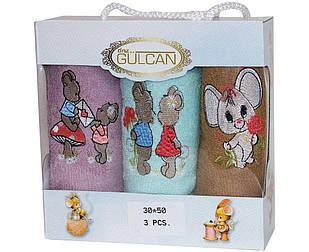 Подарочный новогодний набор полотенец 3шт с мышками 30*50 Турция