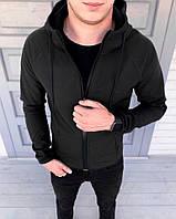 Куртка софтшел Puma чорна (репліка)