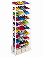 Полка для обуви органайзер 2Life Amazing Shoe Rack 10 полок на 30 пар White (n-254)
