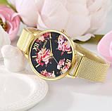 Наручний годинник з квітами, фото 5