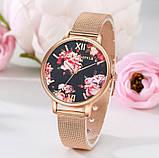 Наручний годинник з квітами, фото 6