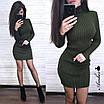 Платье - гольф из машинной вязки в рубчик длиной выше колена 8ty379, фото 5