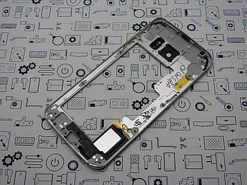 Средний корпус Samsung S6 Edge G925F серый с динамиком Сервисный оригинал с разборки