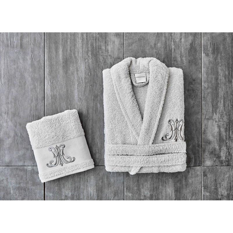 Набор халат с полотенцем Karaca Home - Edward Daily 2020-1 gri