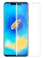 Захисне скло Curved Glass для Huawei Mate 20Pro Прозоре (Рідкий клей + УФ лампа) (001719)