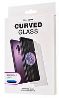 Захисне скло Curved Glass для Samsung Galaxy S10+ Full Glue Прозоре (Рідкий клей+ УФ лампа) (002013)