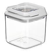 Контейнер для сипучих Ardesto Fresh 0.7 л Прозорий пластик/ Білий (AR1307WP)