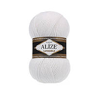 Пряжа для ручного вязания Alize LANAGOLD (Ализе лана голд) 55 белый