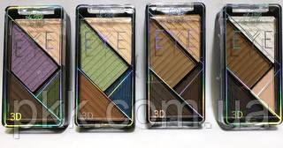 Тени для век LA ROSA EYE Professional Makeup 4 цветов ассорти с эффектом 3D 1104-LE
