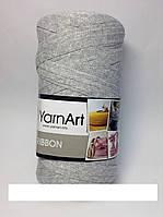 Турецкая пряжа для вязания YarnArt Ribbon ( риббон ) ковриков , корзин - 757 темнее серый