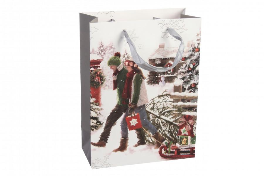 Новогодний подарочный пакет 18*8.5*24 см 3-19079469