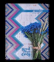 """Книга обліку """"ROMANTIC"""" 96 арк/кліт.оф.(тв. лам. обкл), А4, синій"""