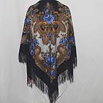 "Павлопосадский шерстяной платок ""Серебро"" размер146х146 см. рис.1243-14, фото 4"