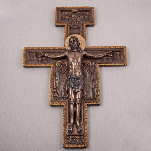 """""""Розп'яття Ісуса"""" з полистоун з бронзовим напиленням"""