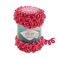Пряжа Пуффи Файн Омбре Батик Ализе Alize, цвет 7279 малиновый\розовый\белый