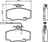 Комплект тормозных колодок, дисковый тормоз T5047 HELLA PAGID