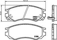 Комплект тормозных колодок, дисковый тормоз T3097 HELLA PAGID