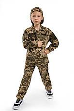 Военная форма для детей костюм Киборг 2 камуфляж Пиксель копия взрослого костюма, фото 2