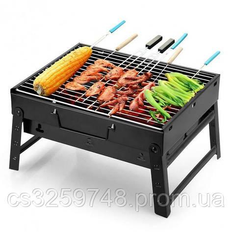 Мангал раскладной BBQ Grill Portable 35x27 см, фото 2