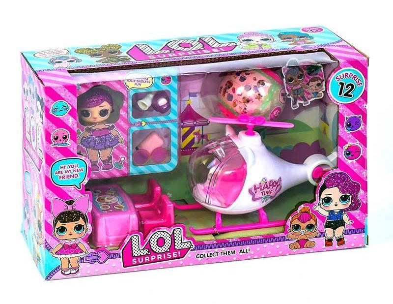 Игровой набор Куклы LOL Вертолет, 2 куклы, мебель