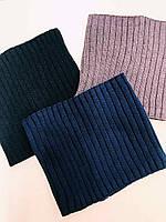 Хомут-снуд  вязанный английской вязкой Nikola Украина разные цвета 00214