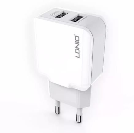 Автомобільна USB зарядка LDNIO A2202 2.4 A, фото 2