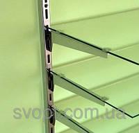 Полкодержатель в рейку белый 20 см., фото 1