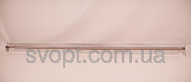 Перемычка пристенная квадратная хромированная, 100 см.
